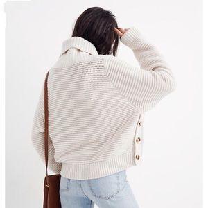 NWT MADEWELL Side Button Turtleneck Sweater Medium